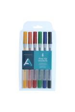 Art Alternatives Dual Tip Marker Sets, 6-Marker Set