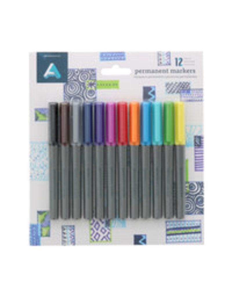 Art Alternatives Perm Marker Fine Set 12Pc