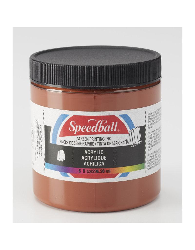Speedball Acrylic Screen Printing Ink Brown 8oz