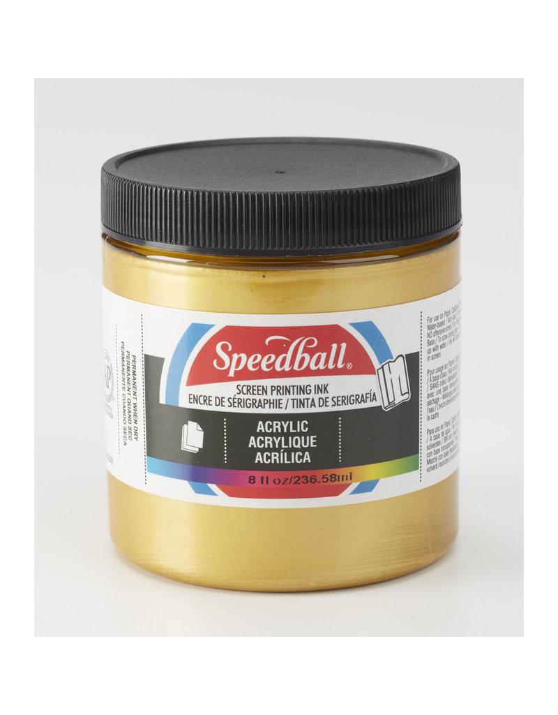 Speedball Acrylic Screen Printing Ink Gold 8oz
