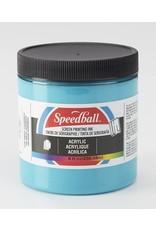 Speedball Acrylic Screen Printing Ink Peacock Blue 8oz