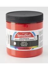 Speedball Acrylic Screen Printing Ink Medium Red 8oz
