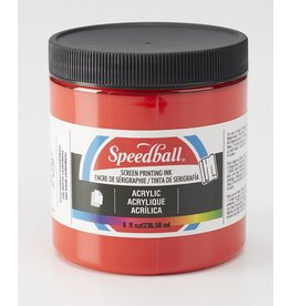 Speedball Acrylic Screen Printing Ink Medium Red 8oz