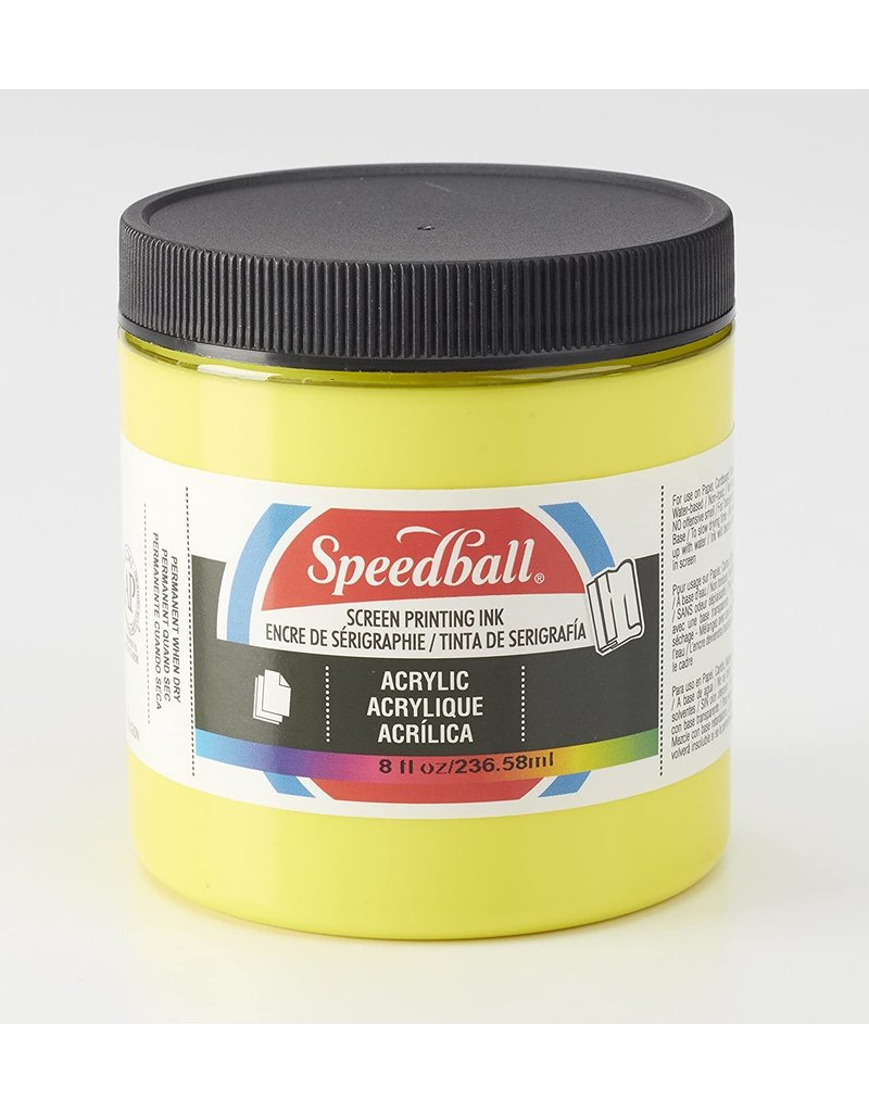 Speedball Acrylic Screen Printing Ink Process Yellow 8oz