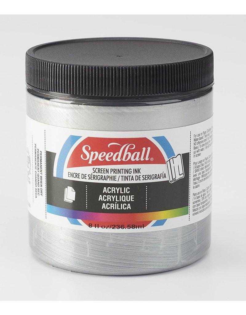 Speedball Acrylic Screen Printing Ink Silver 8oz