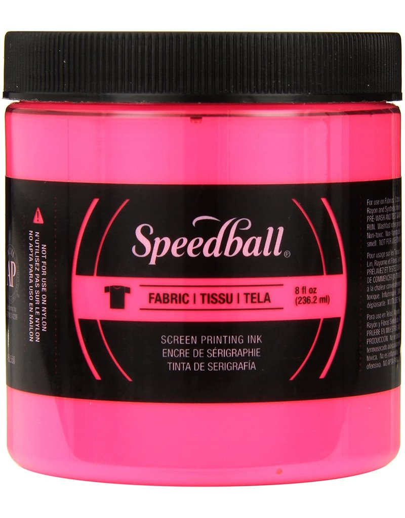 Speedball Fluorescent Screen Printing Ink Hot Pink 8oz