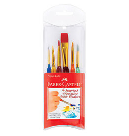 Faber Castel Triangular Paint Brush 6Ct