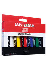 Talens Amsterdam Standard Acrylic Set, 6 Color Set - 20Ml