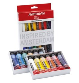 Talens Amsterdam Standard Series Acrylic Paint Sets, 12 Color Set - 20Ml