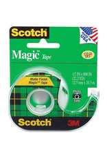Scotch 3m Magic Transparent Tape, 1/2'' X 12.5 Yds