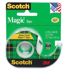 Scotch 3m Magic Transparent Tape, 1/2'' X 12.5 Yds