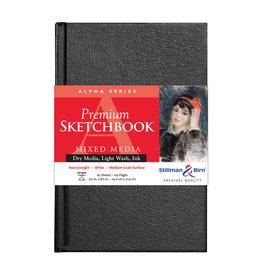 Stillman & Birn Alpha Hardbound Sketch 5.5X8.5 Wht 62Sh