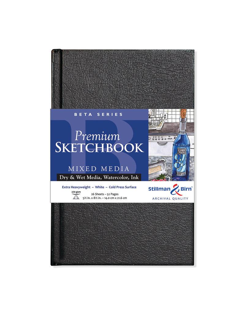 Stillman & Birn Beta Hardbound Sketch 5.5X8.5 Wh Hw 26Sh