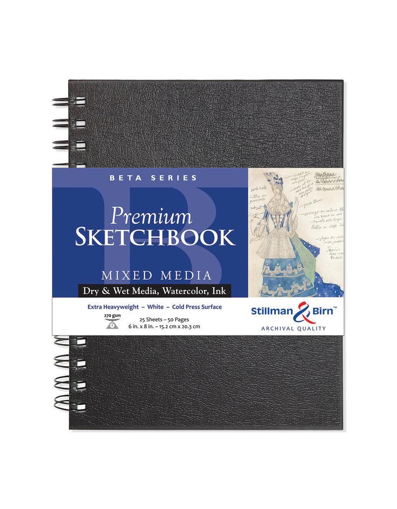 Stillman & Birn Beta Wirebound Sketch 6X8 Wht Xhw 25Sh