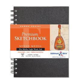 Stillman & Birn Gamma Wirebound Sketch 6X8 Ivr 50Sh