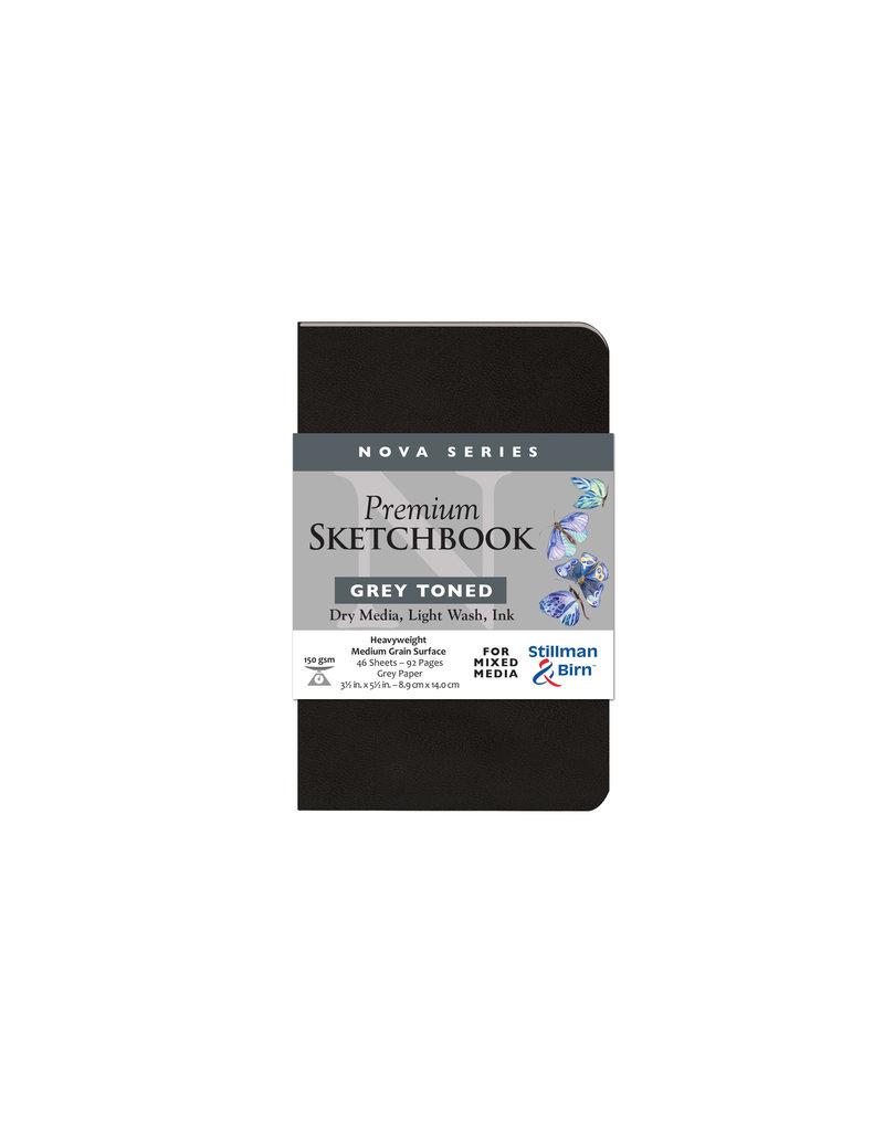 Stillman & Birn Nova Softcover 3.5X5.5 Grey 46Sh