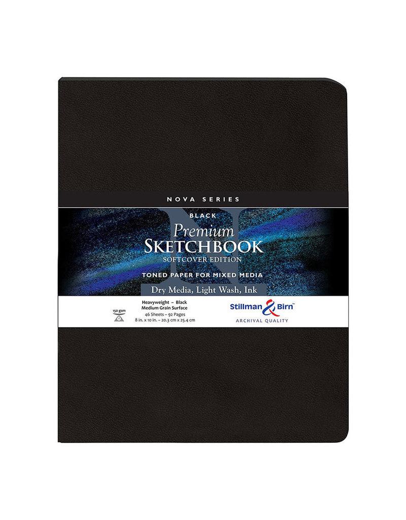 Stillman & Birn Nova Softcover 8X10 Black 46Sh