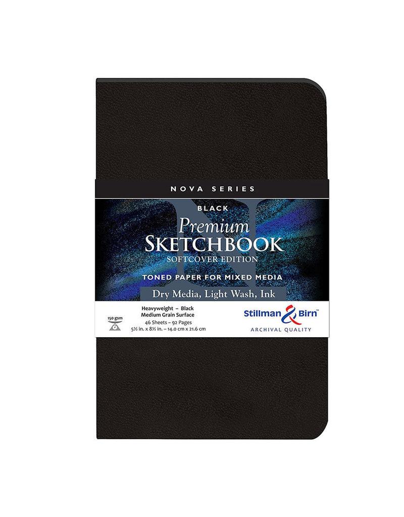 Stillman & Birn Nova Softcover 5.5X8.5 Black 46Sh