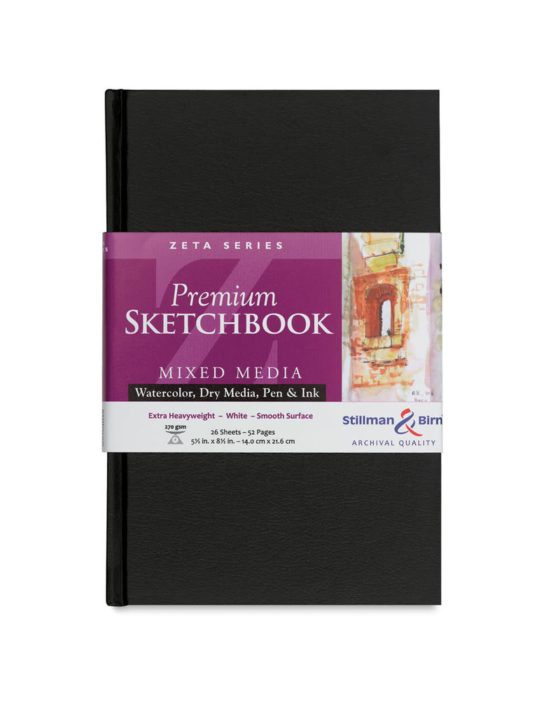 Stillman & Birn Zeta Hardbound Sketch 5.5X8.5 Iv Hw 26Sh