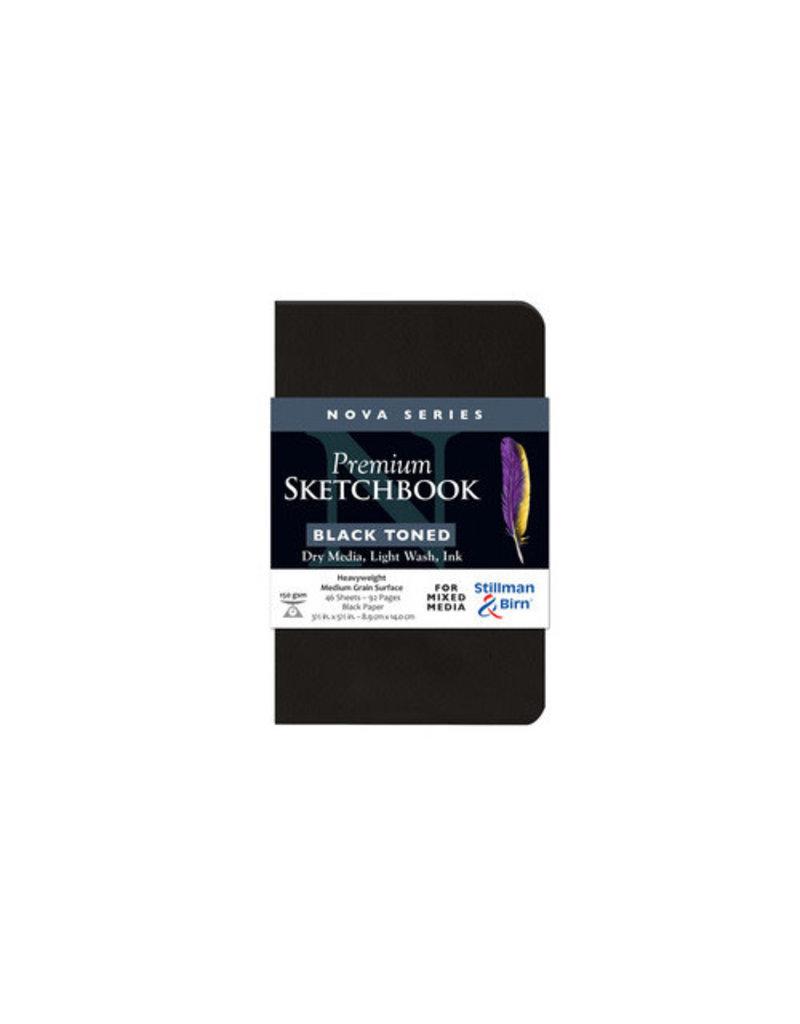 Stillman & Birn Nova Softcover 3.5X5.5 Black 46Sh