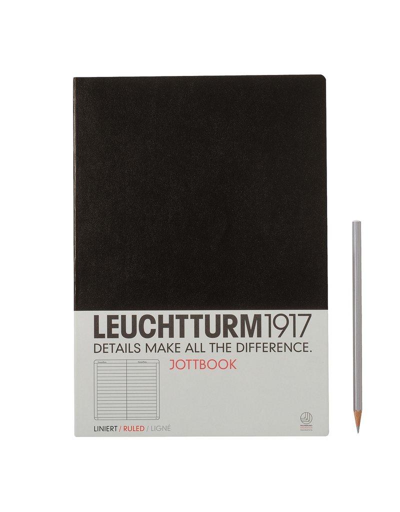 Leuchtturm Leuchtturm Black, Jottbook A4, Ruled
