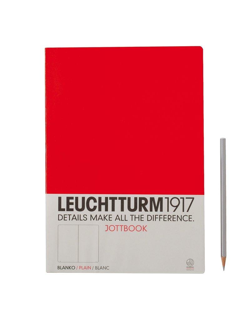 Leuchtturm Leuchtturm Red, Jottbook A4, Plain