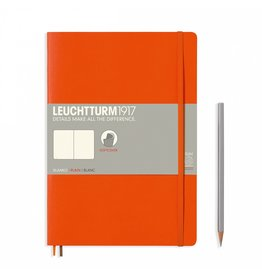 Leuchtturm Leuchtturm Orange, Softcover, Composition (B5), Plain