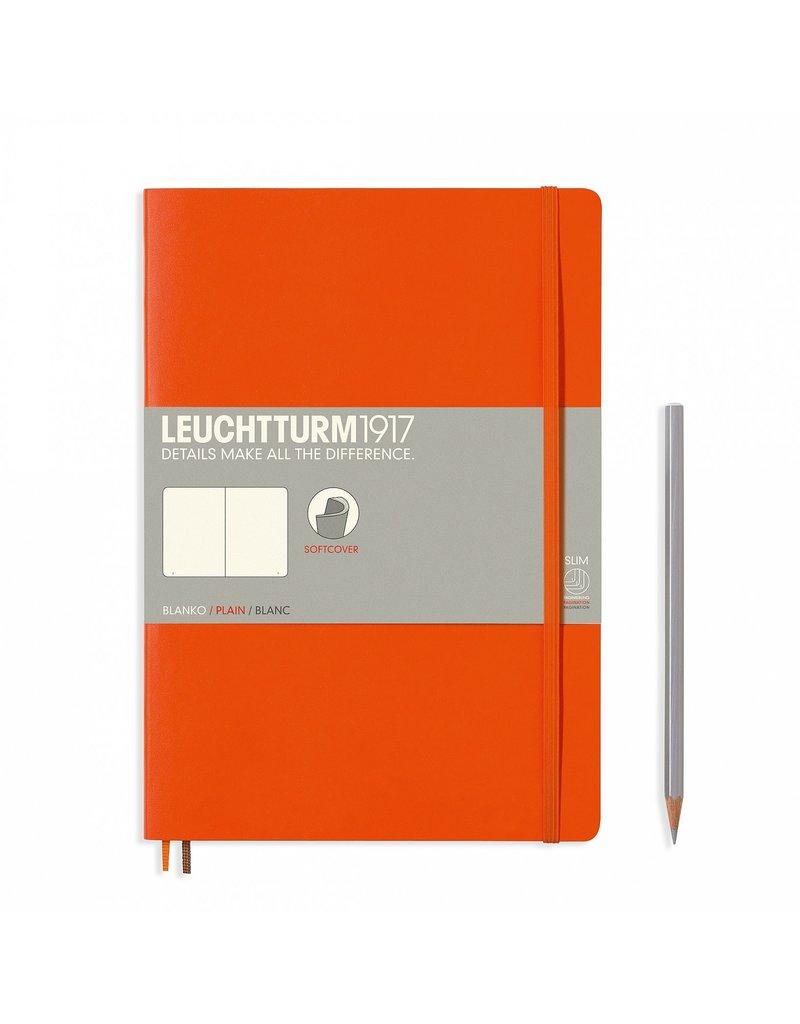 Leuchtturm Leuchtturm Orange, Softcover, Composition (B5), Plain