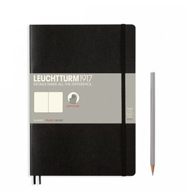 Leuchtturm Leuchtturm Black, Softcover, Composition (B5), Plain