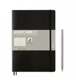 Leuchtturm Leuchtturm Black, Softcover, Composition (B5), Ruled