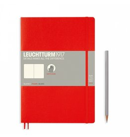 Leuchtturm Leuchtturm Red, Softcover, Composition (B5), Plain