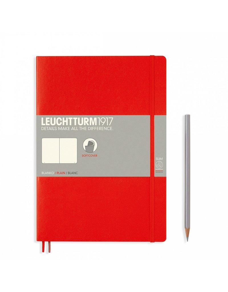 Leuchtturm Leuchtturm Red, Softcover, Composition (B5), Plain