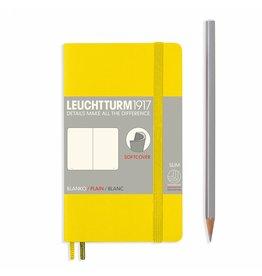 Leuchtturm Leuchtturm Lemon, Softcover, Pocket (A6), Plain