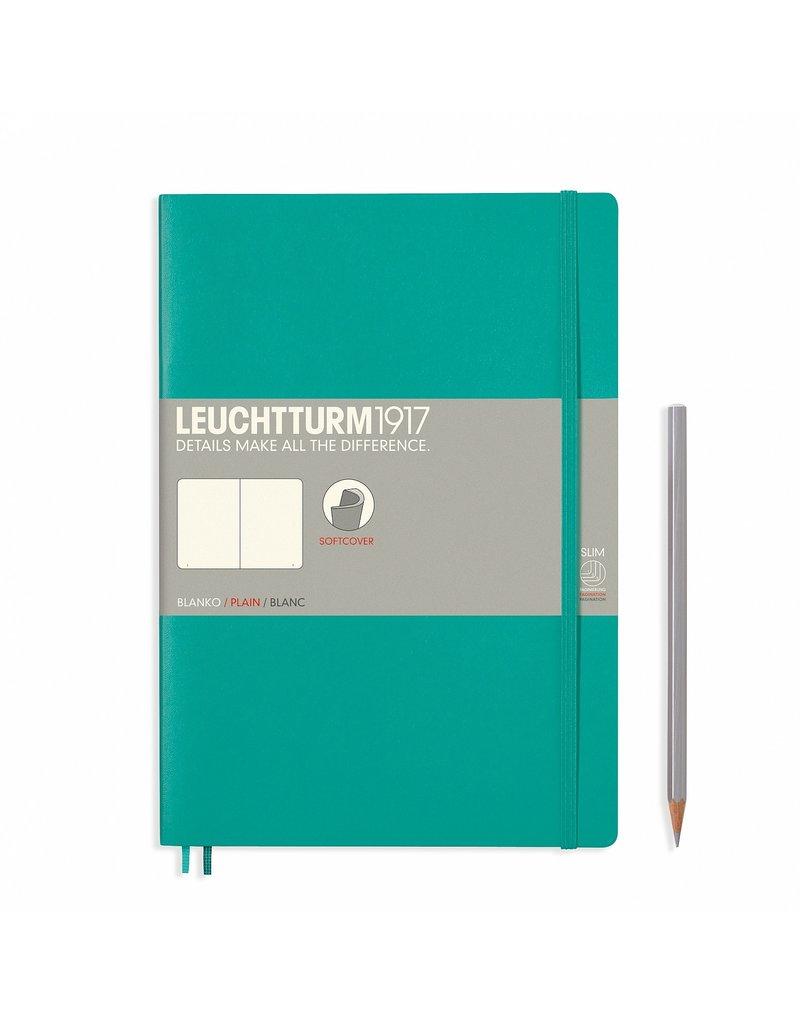Leuchtturm Leuchtturm Emerald, Softcover, Composition (B5), Plain