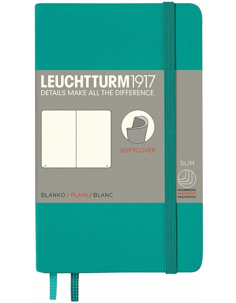 Leuchtturm Leuchtturm Emerald, Softcover, Pocket (A6), Plain