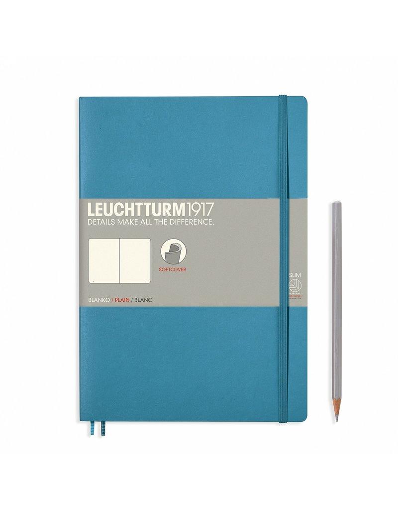 Leuchtturm Leuchtturm Nordic Blue, Softcover, Composition (B5), Plain