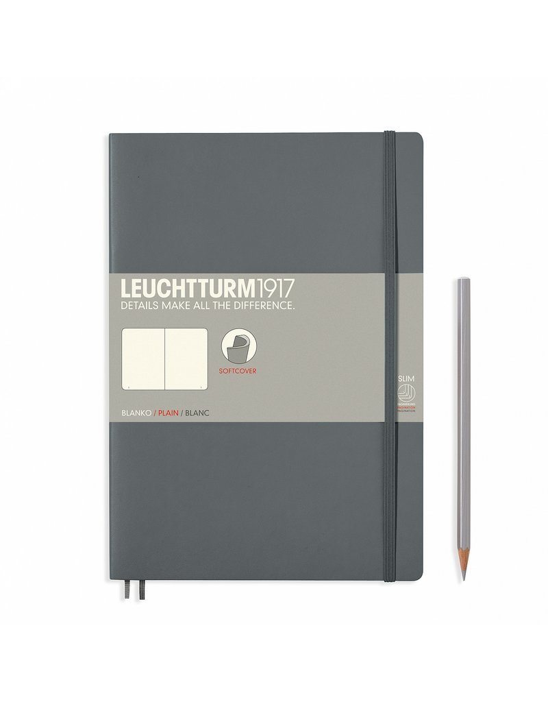 Leuchtturm Leuchtturm Anthracite, Softcover, Composition (B5), Plain