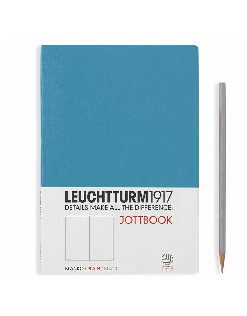 Leuchtturm Leuchtturm Nordic Blue, Jottbook A4, Plain