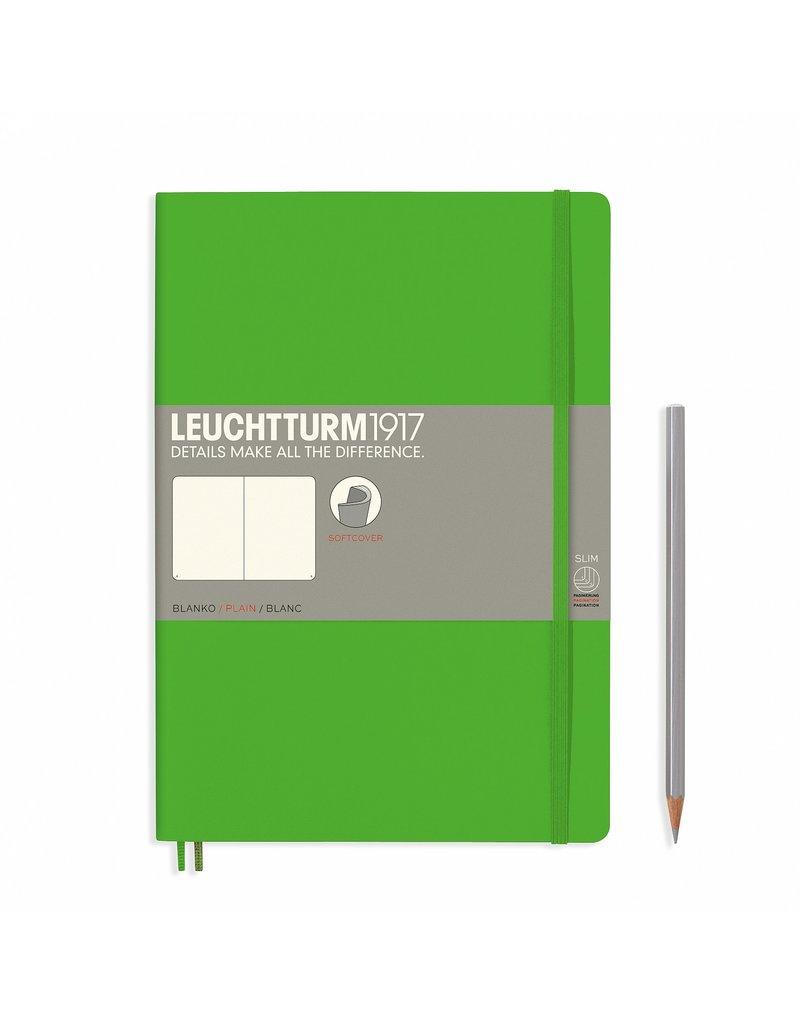 Leuchtturm Leuchtturm Fresh Green, Softcover, Composition (B5), Plain