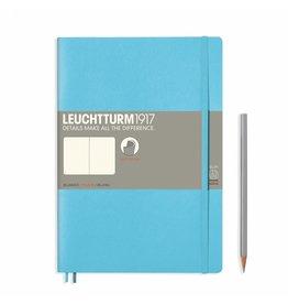 Leuchtturm Leuchtturm Ice Blue, Softcover, Composition (B5), Plain