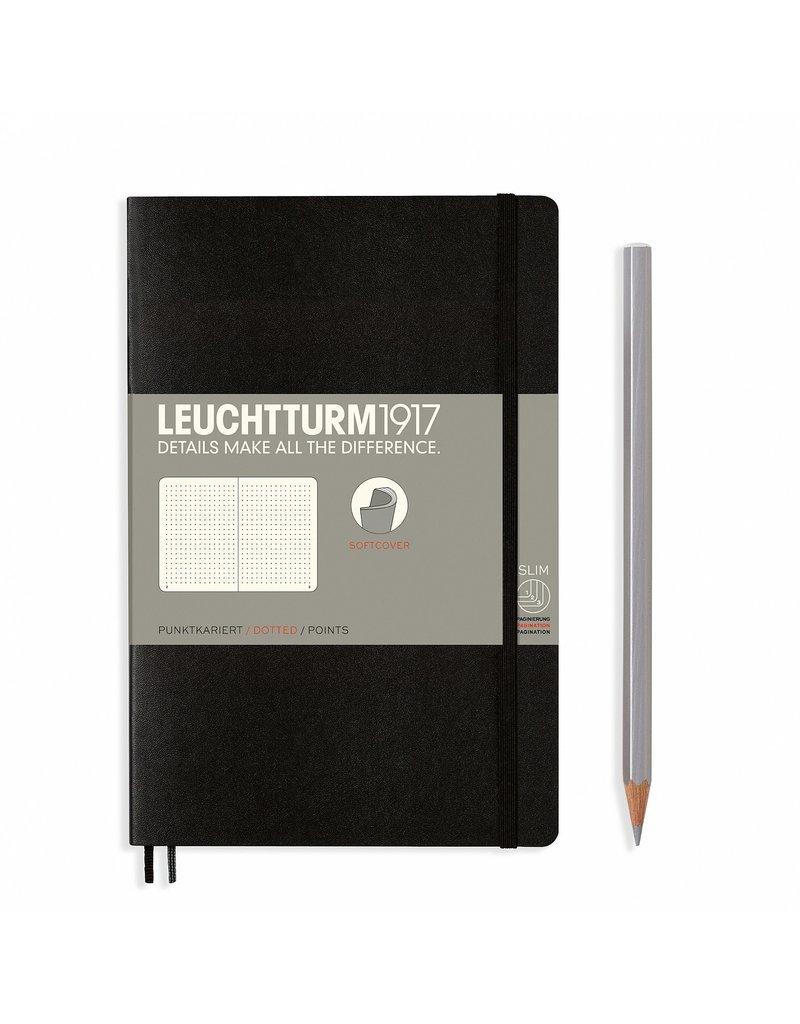 Leuchtturm Leuchtturm Black, Softcover, Paperback (B6+), Dotted