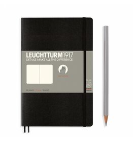 Leuchtturm Leuchtturm Black, Softcover, Paperback (B6+), Plain
