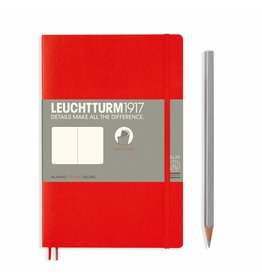 Leuchtturm Leuchtturm Red, Softcover, Paperback (B6+), Plain