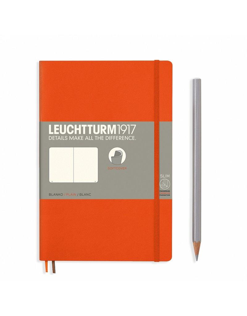 Leuchtturm Leuchtturm Orange, Softcover, Paperback (B6+), Plain