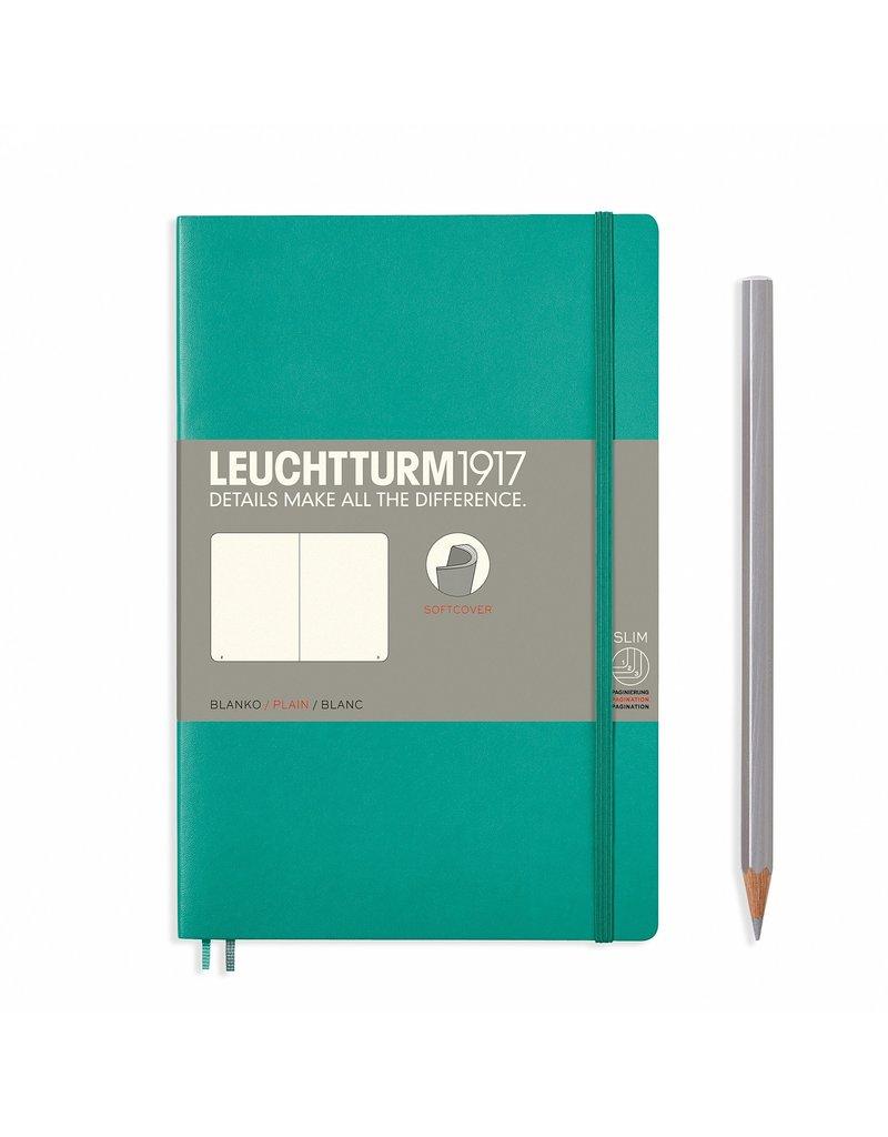 Leuchtturm Leuchtturm Emerald, Softcover, Paperback (B6+), Plain