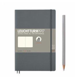 Leuchtturm Leuchtturm Anthracite, Softcover, Paperback (B6+), Plain