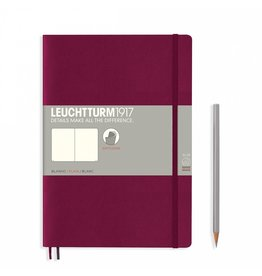 Leuchtturm Leuchtturm Port Red, Softcover, Composition (B5), Plain
