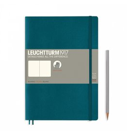 Leuchtturm Leuchtturm Pacific Green, Softcover, Composition (B5), Plain