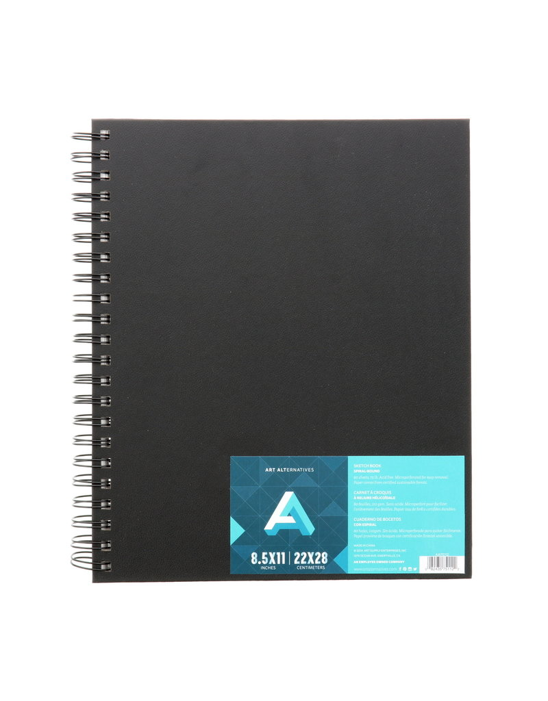 Art Alternatives Sketch Books, Spiral-Bound, 8.5 X 11