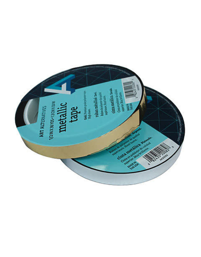 Art Alternatives Metallic Film Tape, Gold- 1/2'' x 36 yds. Roll